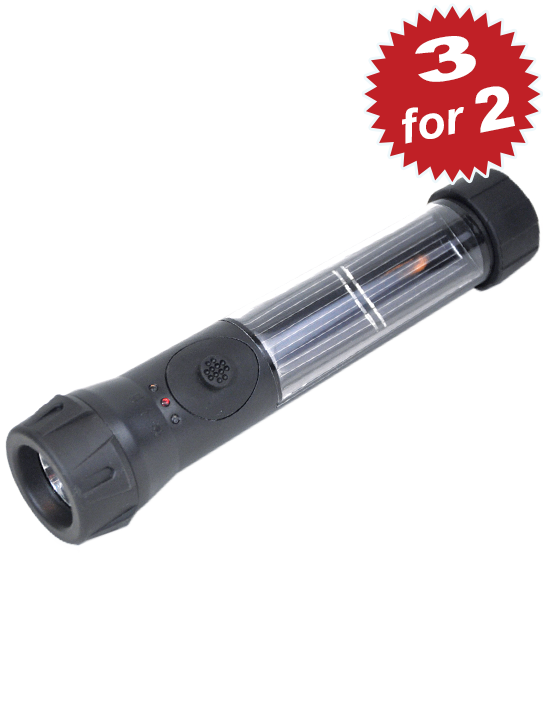 3 for 2 Solar Hybrid Flashlights