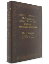 The Researcher's Library of Ancient Texts - Volume III: The Septuagint