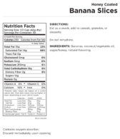 Banana Slices Nut Panel