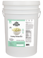 Augason Farms Creamy Chicken & Rice - 6 Gallon