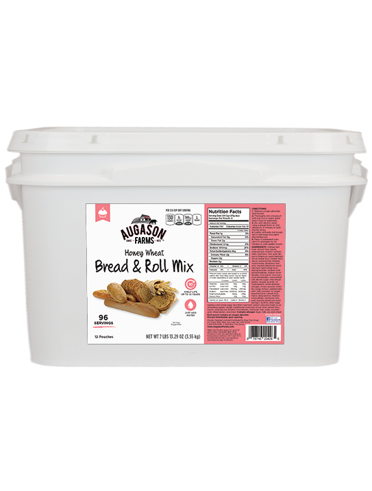 Honey Wheat Bread & Roll Mix - 2 Gallon