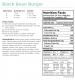 Black Bean Burger Nutritional Information