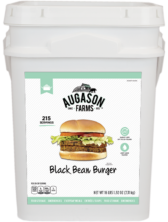 Augason Farms Black Bean Burger Bucket - 4 Gallon