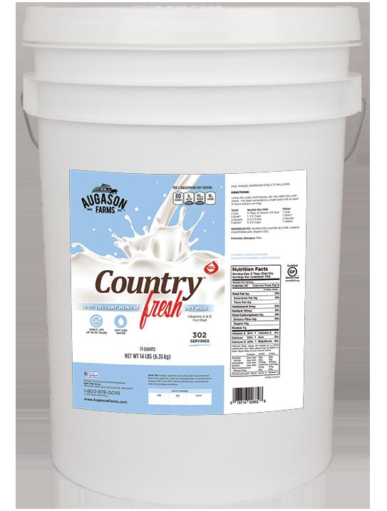 Augason Farms Country Fresh Milk (6 Gallon)