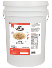 Augason Farms Long Grain Brown Rice (6 Gallon)