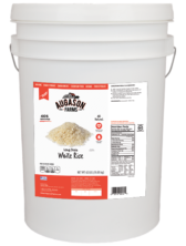 Augason Farms Long Grain White Rice (6 Gallon)