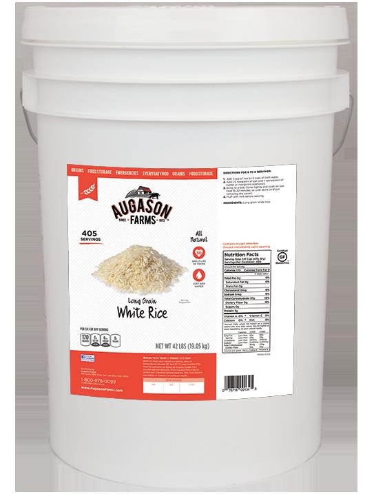 Augason Farms Long Grain White Rice (6 Gallon)