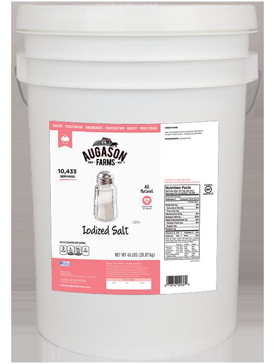 Augason Farms 174 Iodized Salt Bucket The Jim Bakker Show Store