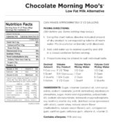 Chocolate Morning Moo's Nutritional Information