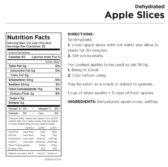 Apple Slices Nutritional Information