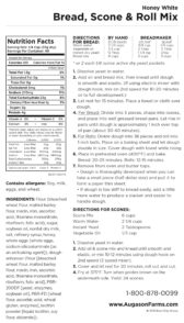 Honey White Bread Mix Nutritional Information