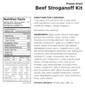 Beef Stroganoff Nutritional Information