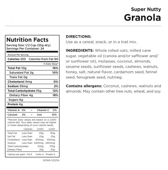 Super Nutty Granola Nut Panel