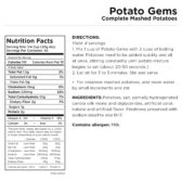 Potato Gems Nutritional Information