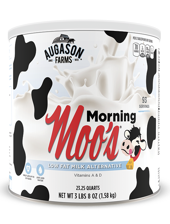 Augason Farms® Morning Moo's Low Fat Milk #10 Can