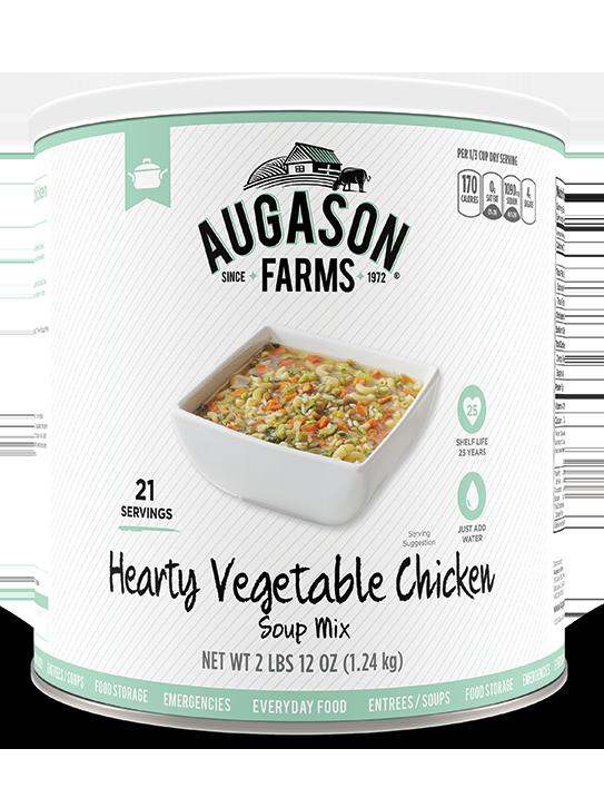 Augason Farms® Hearty Vegetable Chicken Soup Mix #10 Can