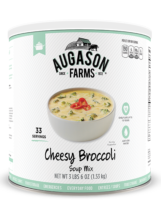Augason Farms® Cheesy Broccoli Soup Mix #10 Can