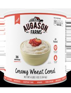 Augason Farms® Creamy Wheat Cereal #10 Can