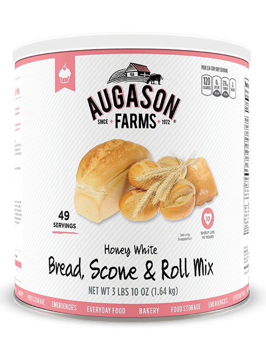 Augason Farms® Honey White Bread & Roll Mix #10 Can