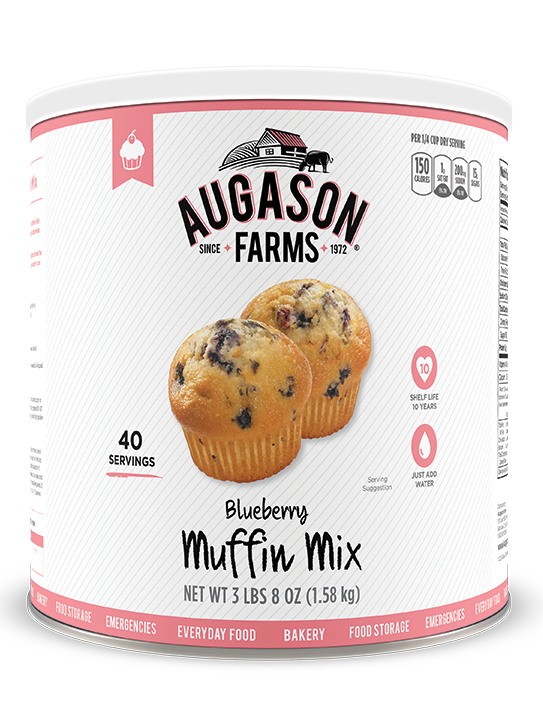 Augason Farms® Blueberry Muffin Mix #10 Can