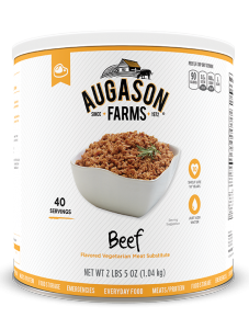 Augason Farms® Beef Flavored Vegetarian Meat Substitute #10 Can