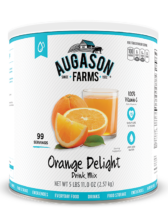 Augason Farms® Orange Delight Drink Mix #10 Can