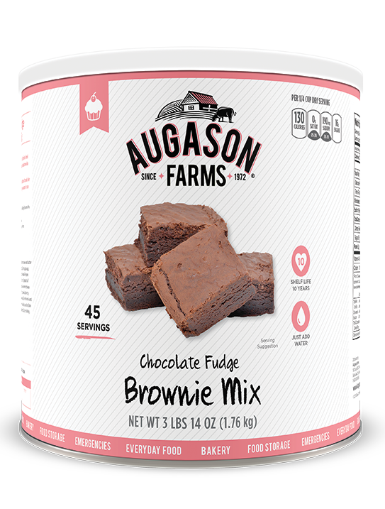 Augason Farms® Chocolate Fudge Brownie Mix #10 Can