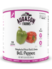 Augason Farms® Dehydrated Diced Red & Green Bell Peppers #10 Can