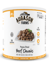 Augason Farms® Freeze Dried Beef Chunks #10 Can
