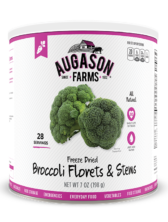 Augason Farms® Freeze Dried Broccoli Florets & Stems #10 Can