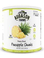 Augason Farms® Freeze Dried Pineapple Chunks #10 Can