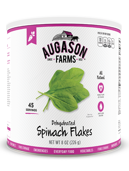 Augason Farms® Dehydrated Spinach Flakes #10 Can
