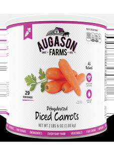 Augason Farms® Dehydrated Diced Carrots #10 Can