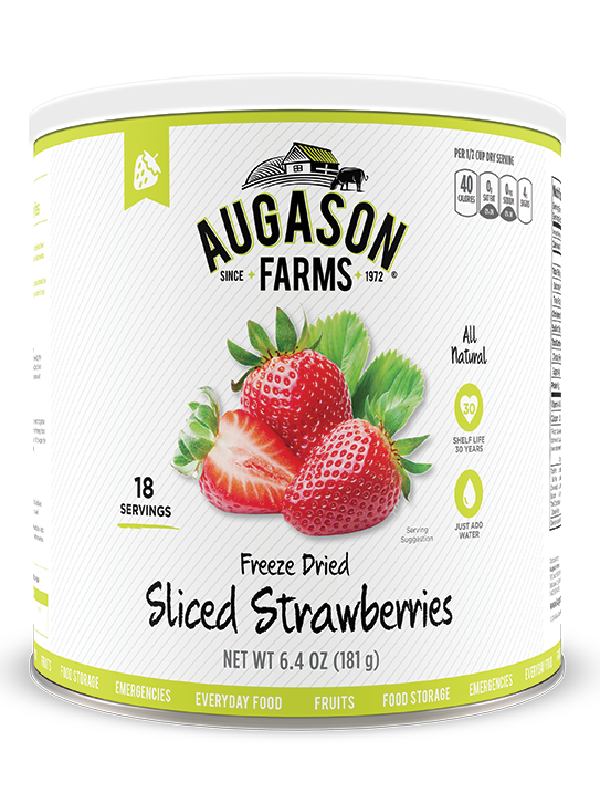 Augason Farms® Freeze Dried Sliced Strawberries #10 Can