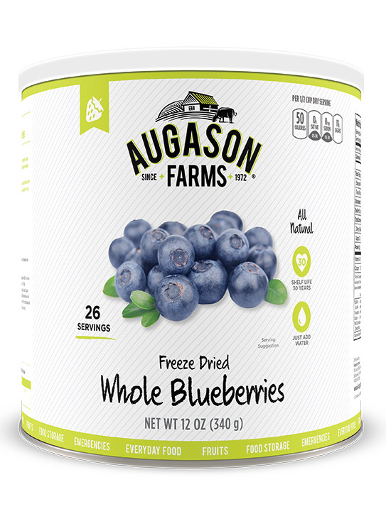 Augason Farms® Freeze Dried Whole Blueberries #10 Can