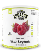 Augason Farms® Freeze Dried Whole Raspberries #10 Can