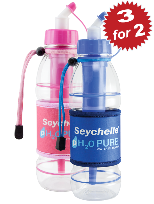 3 for 2 Seychelle® pH2O Sport Bottles
