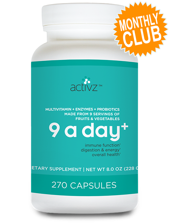 Activz™ 9 A Day + Multivitamin Monthly Club