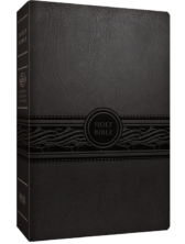MEV Large Print Bible - Charcoal
