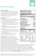 Augason Farms Pizza Bucket Nutritional Information