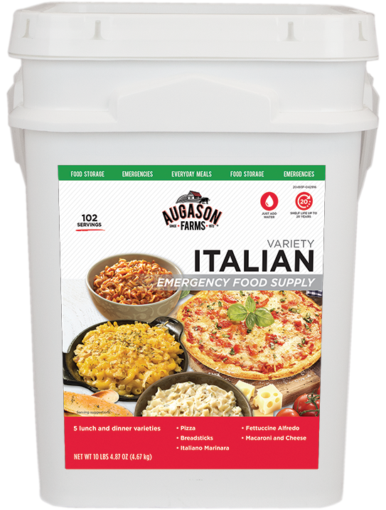 Augason Farms® Italian Variety Bucket (4 Gallon)