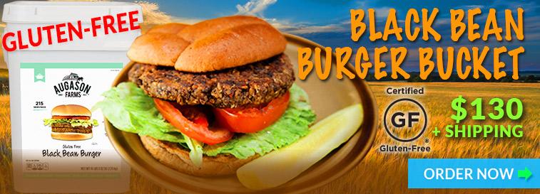 Gluten Free Black Bean Burger Offer