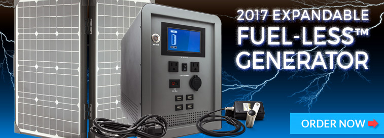 NEW Expandable FUEL-LESS™ Generator - Order Now!