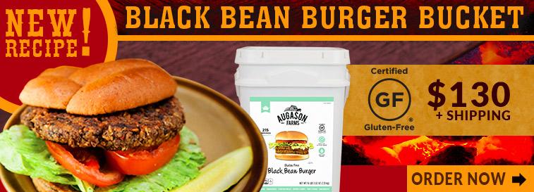 Gluten Free Black Bean Burger - Order Now