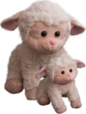 Lori's Mama & Baby Plush Lambs