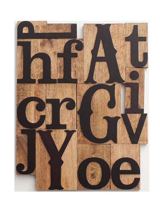 Inspirational Words - Letterpress Blocks, Set of 15