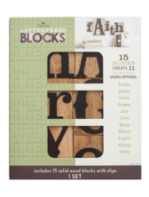 Dayspring Inspirational Words- Letterpress Blocks, Set of 15