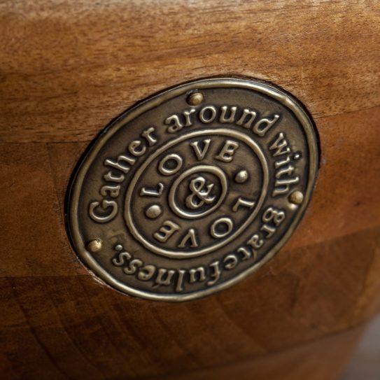 Dayspring Korie Robertson - Salt & Light Wooden Bowl