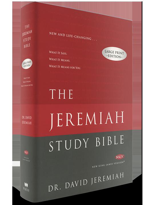 NKJV Hardcover The Jeremiah Study Bible (Large Print)