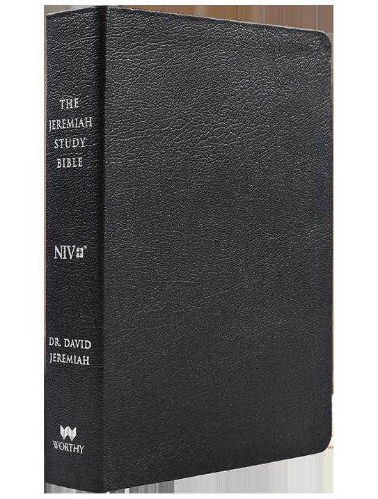NIV Genuine Leather The Jeremiah Study Bible (Black)